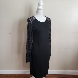 H&M Dresses - H&M Mama Black Lace Sleeve Mini Dress